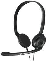 Sennheiser PC 3 Chat - Auriculares de diadema abiertos (micrófono con cancelación de ruido, sonido estéreo, sin USB) color negro
