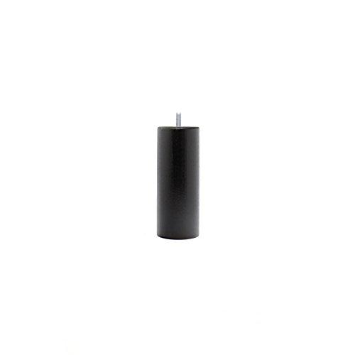 La Fabbrica di Piedi am20170029Gioco di 4Piedi di Letto cilindri Legno Laccato Nero 15x 6x 6cm