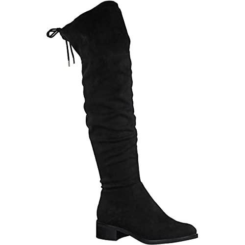 s.Oliver Damen 5-5-25501-27 Overknee-Stiefel, Black, 41 EU