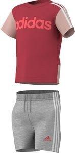 adidas Niños Verano Set Lineal, Sommer Set Lineares, Top:Joy s13/white/red Zest s13 Bottom :Medium Grey Heather/White/Red Zest s13