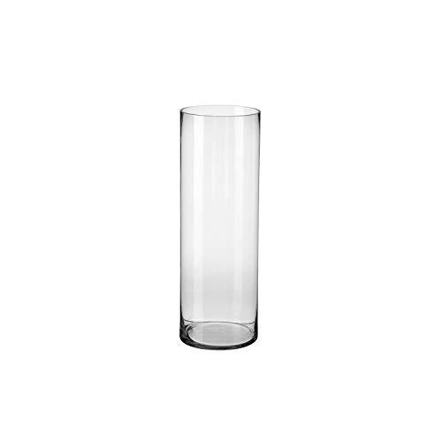 Jarrón de pie clásico Transparente de Cristal para decoración Basic - LOLAhome