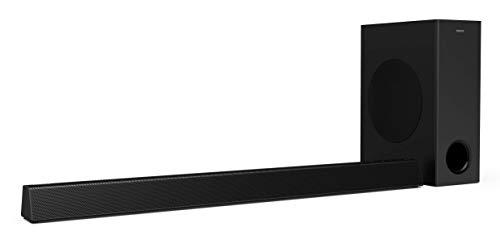 Philips Audio Barra de Sonido para TV Philips HTL3320/10 Barra de Sonido TV (Bluetooth, Dolby Audio, 300 Vatios, Subwoofer Inalámbrico, HDMI ARC, USB), Color Negro