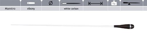 ROHEMA Taktstock Maestro white carbon balanced