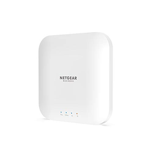 NETGEAR WAX214 WiFi 6 WLAN Access Point PoE (Dualband 1800 MBit/s | 2.4GHz/5GHz | 1x GB PoE LAN-Port | AX1800 mit WPA3 Sicherheit | bis zu 4 separate WLAN-Netzwerke | PoE-powered - Netzteil optional)