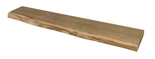 Wandregal, Eiche, massiv, Holz, Regal, Baumkante, rustikal Wandboard (120cm mit Baumkante)