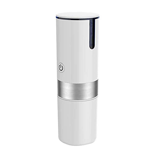 Dzbanki do kawy MINI Przenośna ciśnieniowa ekspres do kawy Espresso Espresso Atomaty USB.Ładowanie Capsule Espresso Machine Narzędzie kuchenne .Herbaciane garnki i serwery do kawy (Color : White)