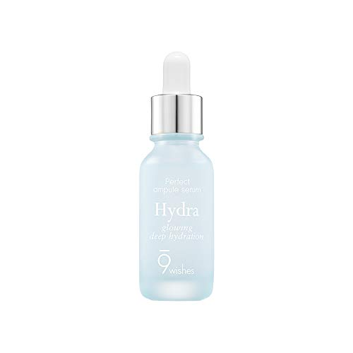 [9wishes] Hydra Skin Ampule Serum 0.85Fl. Oz | Hydrating Facial Moisturizer with 51% Coconut Water and Hyaluronic Acid | Korean Skincare, Chemical-Free, Cruelty-free, Natural Ingredients