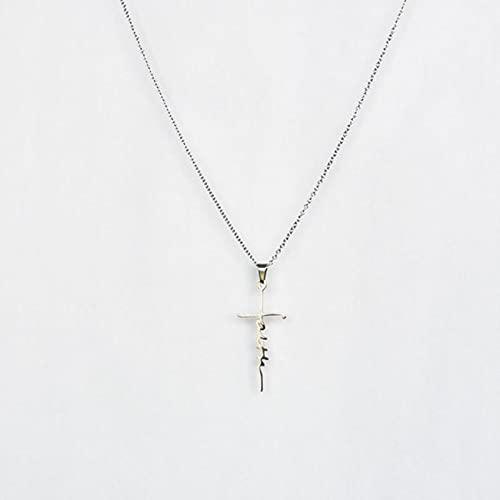 CXWK 1 par de Pendientes de Acero Inoxidable con Cruz de fe, Pendientes para niños y niñas, Pendientes Minimalistas, joyería