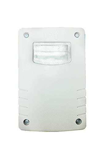 Garza Power - Detector Crepuscular Regulable Exterior, protección IP44, color Blanco