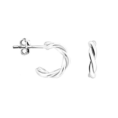 SOFIA MILANI - Damen Ohrringe 925 Silber - Geschwungene Steck Creolen - 20982