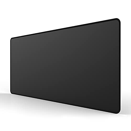 ALSISK XX Large Black Gaming Mouse Pad 35.4X15.74X0.12 Inch(900X400X3MM),with Non-Slip Base,Waterproof and Foldable Pad,Desktop Pad Suitable for Gamers,Suitable for Work,Office and Home