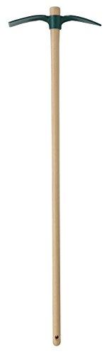 Leborgne Serfouette forgée panne et langue, Douille ronde, Hauteur tête: 35 cm, Manche: 110 cm, Acier forgé et trempé