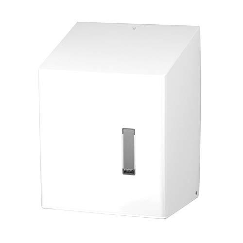 Ophardt SanTRAL CEU 1 Paper towel dispenser Center-Pull, Couleur:Inox. Blanc. revêtement en poudre
