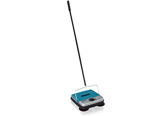 Leifheit Rotaro S Deluxe Floor Sweeper with Side Sweeping Brushes,...