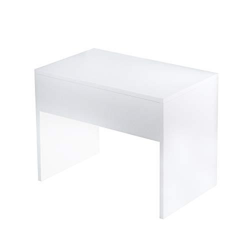 CCLIFE Blanco Tocador Mesa de Maquillaje espejo, cajone o taburete 140x40x75cm, Color:SILLA PARA TOCADOR