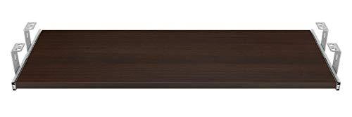 FIX&EASY Guide scorrevoli con ripiano 800X400mm dekoro wengè quercia moka per porta-tastiera cassetto, staffa per binario scorrevole zincato 400mm
