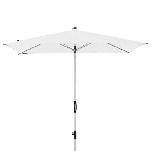 Knirps Sonnenschirm Automatic - Rechteckiger Kurbelschirm – Modernes Design – Starker UV-Schutz – 230x150 cm – Weiss