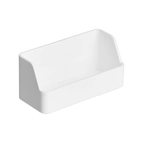 AmazonBasics Organizador de plástico, soporte para tarjetas de visita, blanco