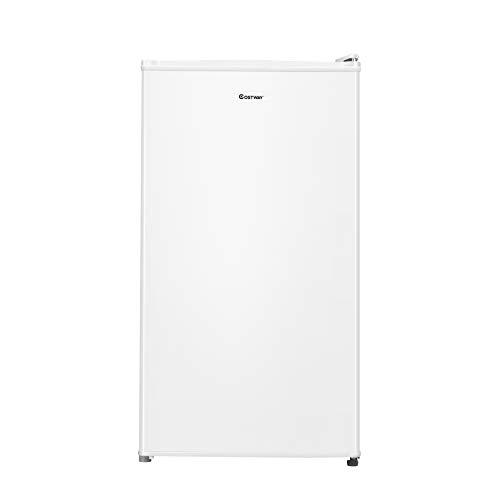COSTWAY 91 litros Capacidad Refrigerador Nevera Frigorífico Eléctrico Congelación Refrigeración (Blanco)