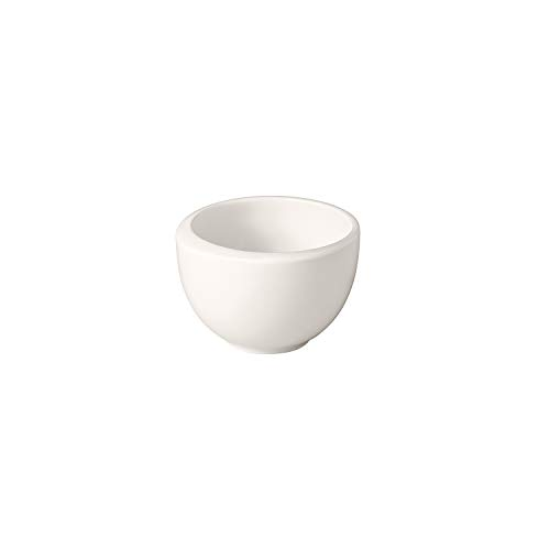 Villeroy & Boch - NewMoon Mokka-/Espressobertasse, moderne Espressotasse ohne Henkel aus Premium Porzellan, spülmaschinengeeignet, weiß, 90 ml