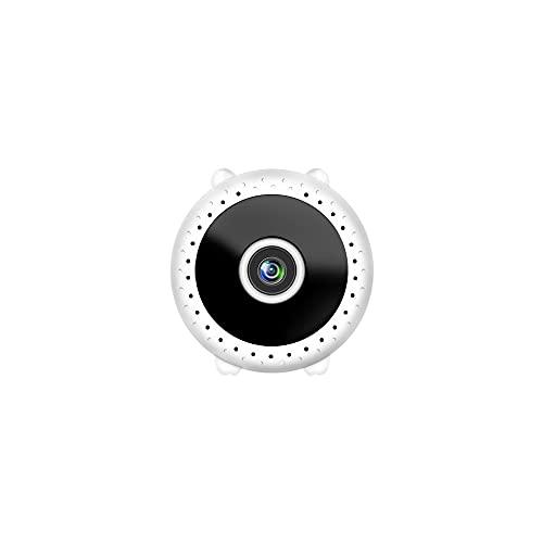 CXSD Cámara espía Wifi oculta, la cámara de vigilancia de seguridad más pequeña 1080P Full HD inalámbrica, cámara web de monitoreo remoto portátil (sin tarjeta de almacenamiento) (color blanco)