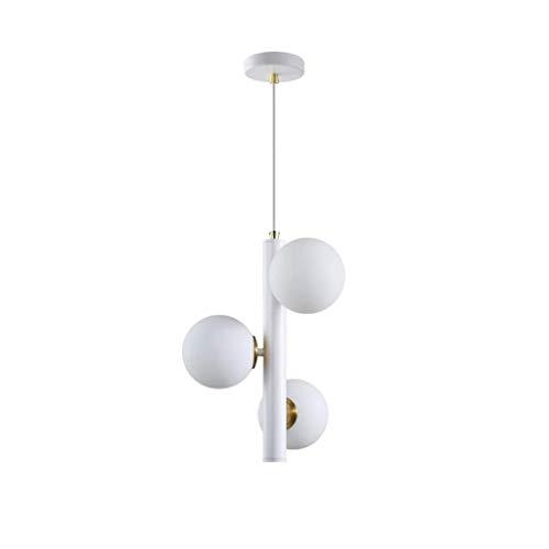 GUIDATO Plafoniera Lampadario, LED 5W soffitto lampadario Chandelier molecolare moderna Glass Ball Tromba delle scale Camera Ristorante Chandelier molecolare [ Classe energetica A+] (Colore: giallo ch