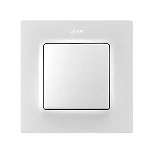 Tecla individual con visor para mecanismos S.75, serie 82 Concept, 1 x 5,5 x 5,5 centímetros, color blanco mate (referencia: 8200111-090)