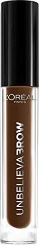 L'Oréal Paris Augenbrauen-Gel, Wasserfeste und wischfeste Augenbrauen Farbe, Bis zu 2 Tage Halt, Unbelieva Brow, Nr. 108 - Dark Brunette, 1 x 3,4 ml
