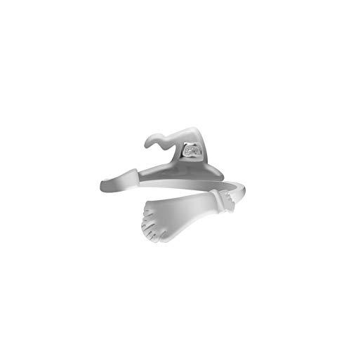 Yisily Halloween Ring Multi-Form-Hexenhut Besen Kürbis Ring Kreative Kürbis Lampe Hohler Ring Einfacher Justierbare Ring-Geöffnete Ring-Partei Cosplay Schmuck J223-4 Typ