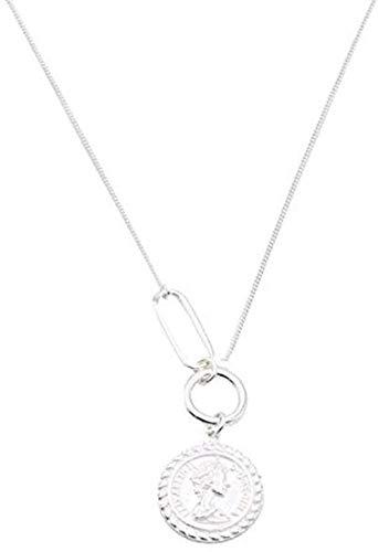 LKLFC Collar de Mujer, Collar de Hombre, Collar, Cadena Simple, Cadena Corta de clavícula para Mujer, Colgante, Collar, Regalo para niñas y niños