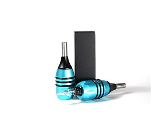 Apricot blossom 27mm H3 Cartuchos Cartuchos Tattoo Grips Mejorado Bola de Acero Ajustable Equipo de Tatuaje Profesional Suministro de Tatuaje (Color : Blue)