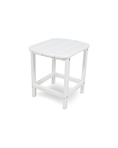POLYWOOD SBT18WH South Beach 18' Outdoor Side Table, White