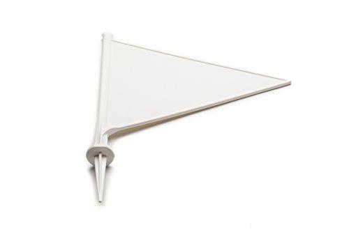 MPL–jardinería Frontera de críquet Marcador Banderas, Pack de 10, Color Blanco, tamaño Talla única