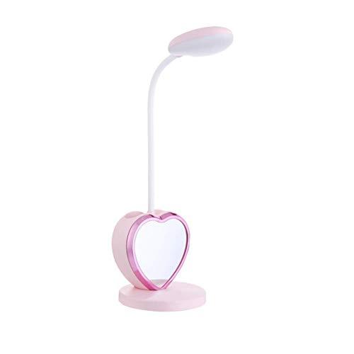 HCFSUK Mini lámpara de Mesa, lámpara de Mesa con protección Ocular LED, luz Nocturna táctil multifunción, lámpara Plegable con Carga USB