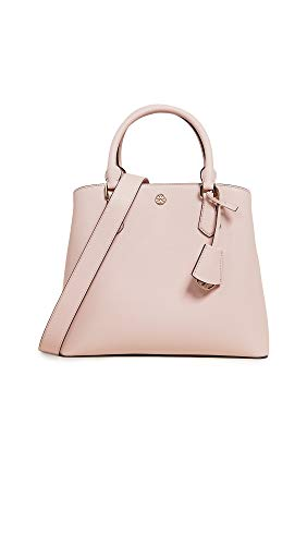 Tory Burch Women's Robinson Medium Triple Compartment Tote, Shell Pink, One Size