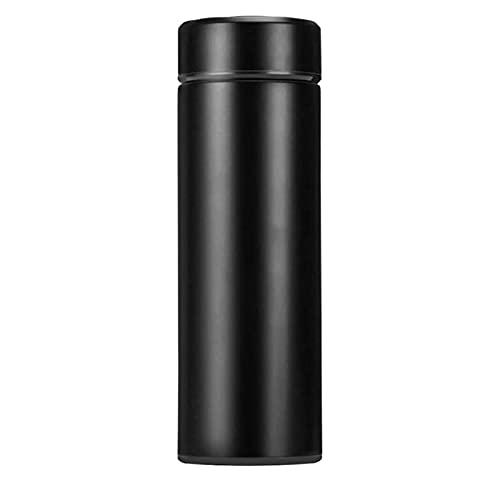 Vacío de acero inoxidable de acero inoxidable de acero inoxidable de acero inoxidable de acero inoxidable, botella de agua para deportes de viaje, hogar gratis 1pc ( Capacity : 500ml , Color : BLACK )