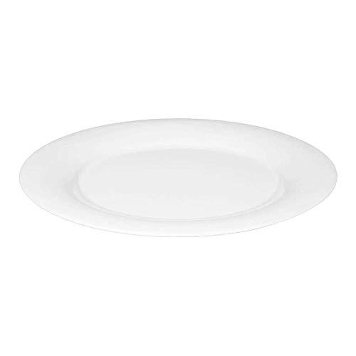 Seltmann 001.497009 Savoy Porzellan Teller, Flach, Fahne, Rund, Weiß, 3 Dekor, 28.7cm Durchmesser, 2.4cm Höhe, 6 Stück