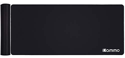 Extended Mouse Pad Extra Large XXL Gaming Mouse Pad XXL Desk pad Non-Slip Rubber Base Sticthed Edge Mousepad for Office Desk Accessories(35'x15.55'x0.07')-Black