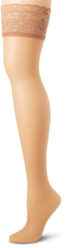 Hanes Silk Reflections Lace Top Thigh Highs - Size C/D, Little Color