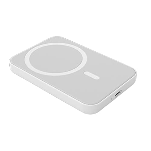 Gogias Banco de energía magnético   Banco de energía inalámbrico magnético 5000 mAh Cargador rápido portátil inalámbrico magnético compatible para iPhone 12 Pro/12 Pro Max/12 Mini