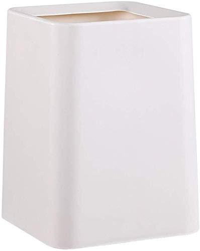 JIAHE115 Inductie vuilnisbak Dubbele vat rechthoekige vuilnisbak, onbreekbaar plastic Wit Grijs Huishoudelijke decoratieve opbergbak