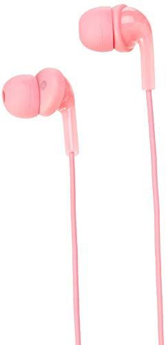 Amazon Basics – Auriculares de botón con micrófono, Rosa