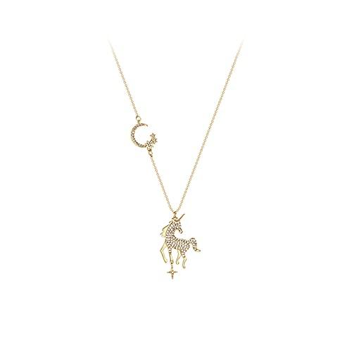 ZPEE Collares 925 Collar de Plata esterlina Femenina luz de Lujo nicho Collar de Plata para Mujeres Cadena de clavícula Regalo de día de San Valentín Gargantilla Delicada