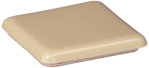 Shepherd Hardware 3949 2-Inch Adhesive, Square, Slide Glide Furniture Sliders, 4-Pack,Beige
