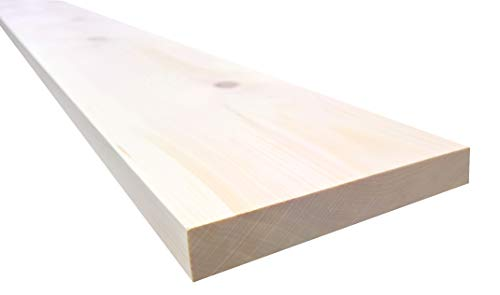 rc-holzgestaltung Zirbenbrett Zirbenbretter Zirbenholz Zirbenbett Brett Bohle Zirbe 100x15x2,5 cm (Zirbe)