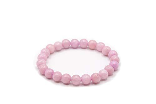 LC Pulsera Turmalina Rosa [Piedra Natural] – Elimina Ansiedad Estrés, Protección Purificación Chakra Energía Positiva – Caja Elegante Pulsera Mujer Pulsera Hombre