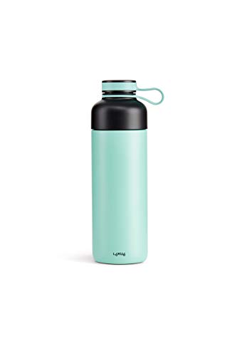 Lékué 0302550Z07 Bouteille Isotherme To Go, Turquoise, 500 ml