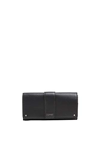 Esprit Accessoires Damen Wb_nina Flclutf Geldbörse, Schwarz (Black), 2x9x19 cm