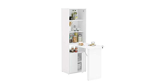 Boahaus Multipurpose Cabinet with Desk, White White