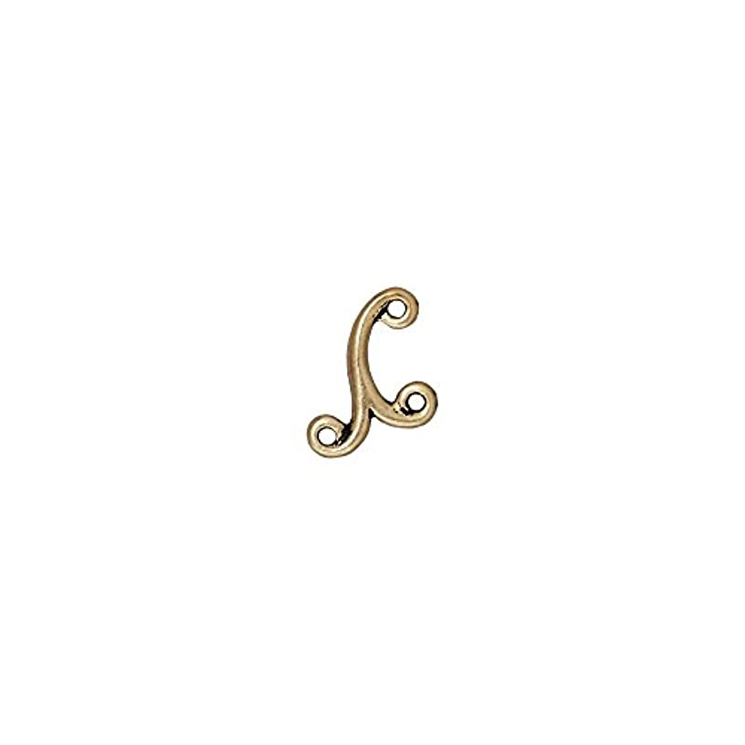 TierraCast 3 Loop Link Melody Decorative Item, 11.4 x 12mm, Antique Brass